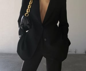 blogger, outfit, and black blazer image