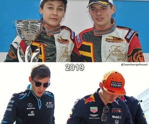 george russell and max verstappen image