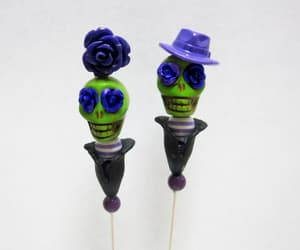 cake decoration, day of the dead, and top hat image