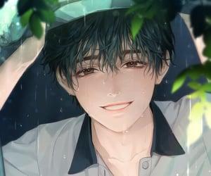 anime, original art, and rain image