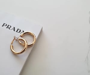 earrings, fashion, and Prada image