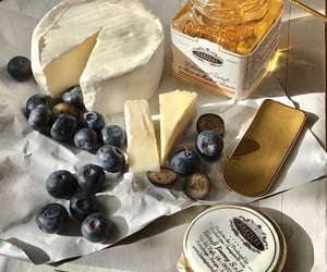 food, cheese, and honey image