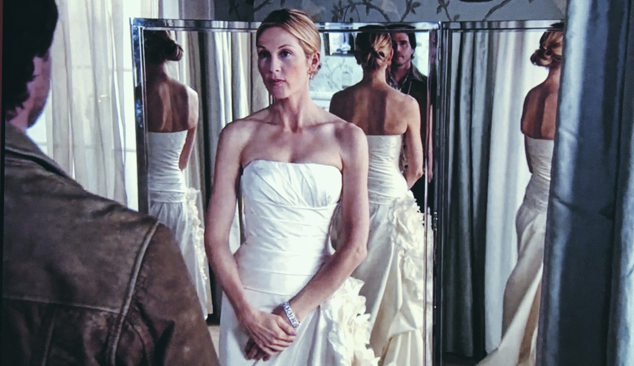 dress, girls, and wedding image