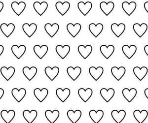 wallpaper, heart, and pattern image