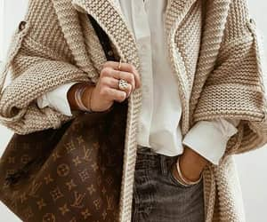 blogger, cardigan, and Louis Vuitton image