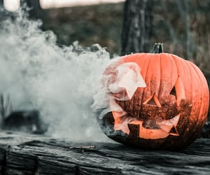 pumpkin, dark, and Halloween image
