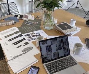 business, desk, and fashion image