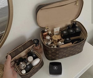 bag, Louis Vuitton, and cosmetics image