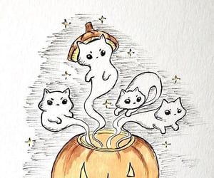 adorable, cats, and ghosts image