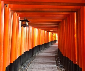 japan, kyoto, and red image