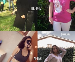 abs, before after, and weight loss image