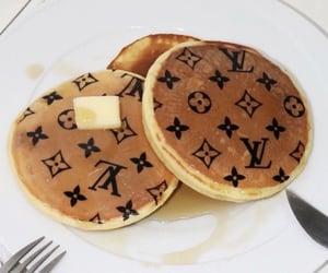 pancakes, food, and Louis Vuitton image