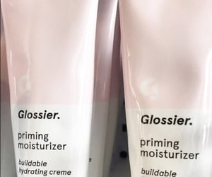 pink, glossier, and theme image