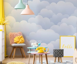cloud, children room, and sky image