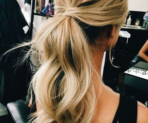 hair, wavy, and tail image