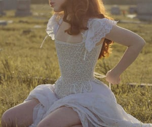 bodice, vintage retro, and ginger red hair image