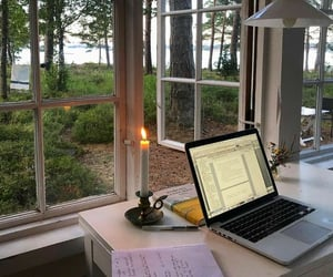 study, work, and nature image