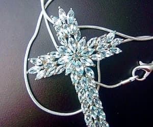 etsy, cross jewelry, and gift for her image