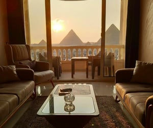 egypt, hotel, and living room image