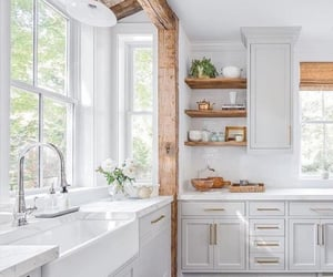 decor, kitchen, and white image