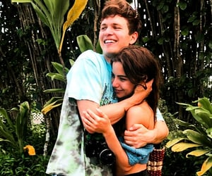couple, violetta, and ansel elgort image