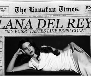 lana del rey, black and white, and cola image