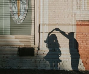 couple, shadow, and love image