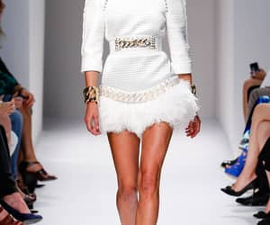 Balmain, runway, and dress image