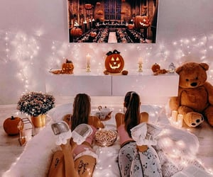 autumn, Halloween, and girls image