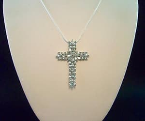 sterling silver, cross necklace, and religious pendant image