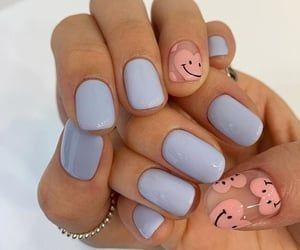nails, hearts, and pink image