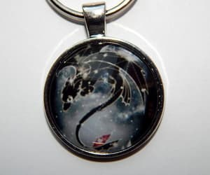 etsy, purple dragon, and toothless necklace image