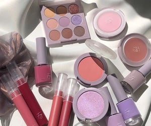 beauty, eyeshadow, and lipstick image
