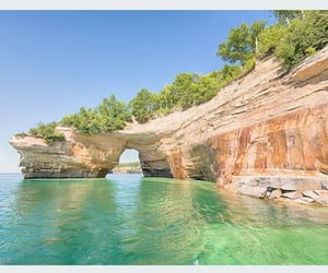 michigan, rock formation, and pictured rocks image