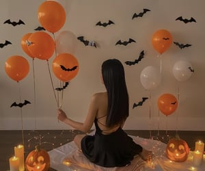 aesthetic, autumn, and balloons image