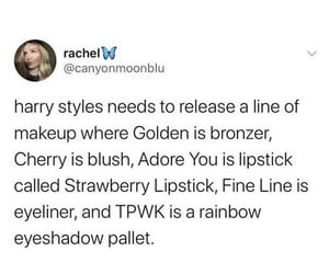 fine line, adore you, and make up image