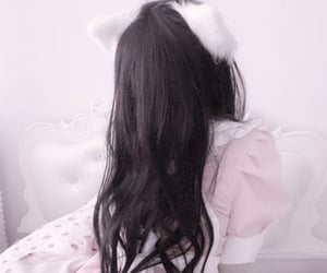 aesthetic, cat ears, and soft image