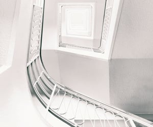 staircase, Blanc, and minimalism image