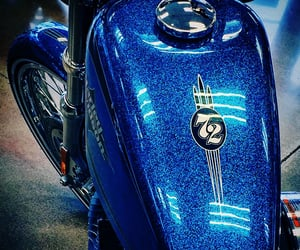 72, blue, and harley image