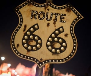 numbers, route 66, and street sign image