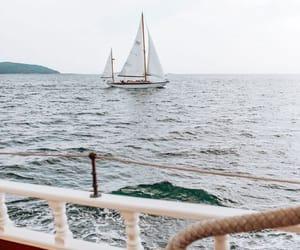 boat, ocean, and sailing image
