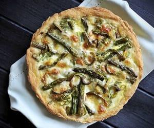 asparagus, quiche, and mushroom image