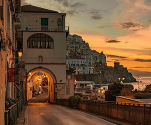 travel, italy, and sunset image