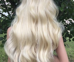 hair, blonde, and hairstyles image