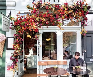 aesthetic, cafe, and flowers image