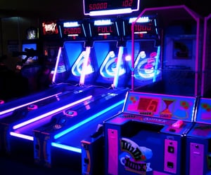 game, neon, and arcade image