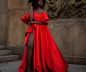 classy, gowns, and natural hair image