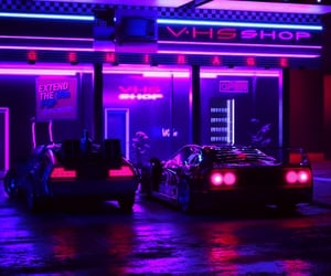 aesthetic, car, and neon image