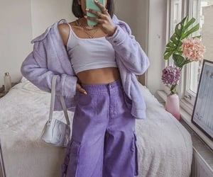purple, fashion, and aesthetic image