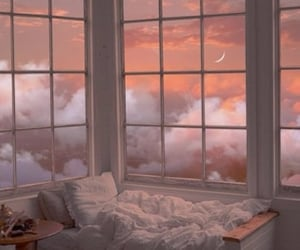 sky, aesthetic, and bed image